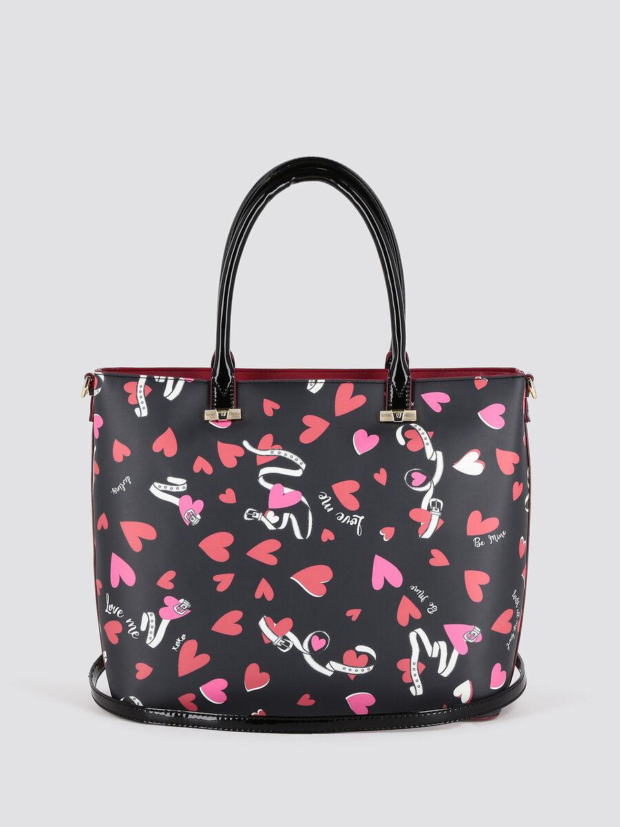 Shopping bag Paprica con stama a cuori