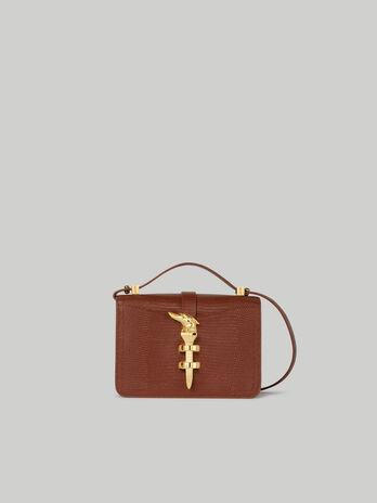 Small Leila crossbody bag with lizard print