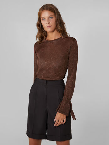 Pullover aus Viskose Lurex Mix