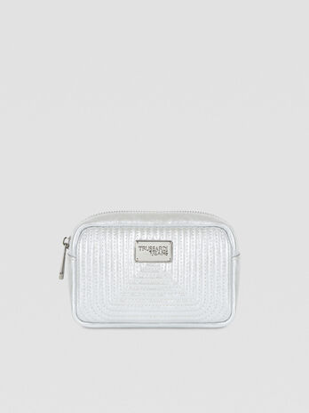 Frida toiletry bag in laminated faux leather