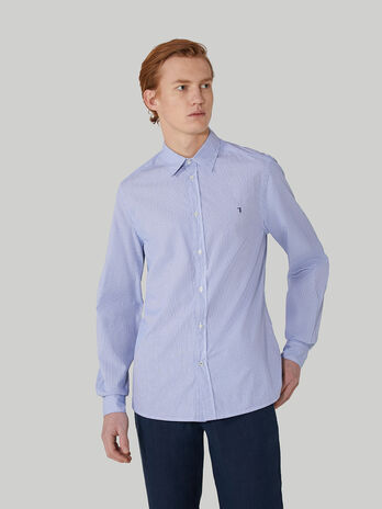 Slim-fit stretch cotton poplin shirt