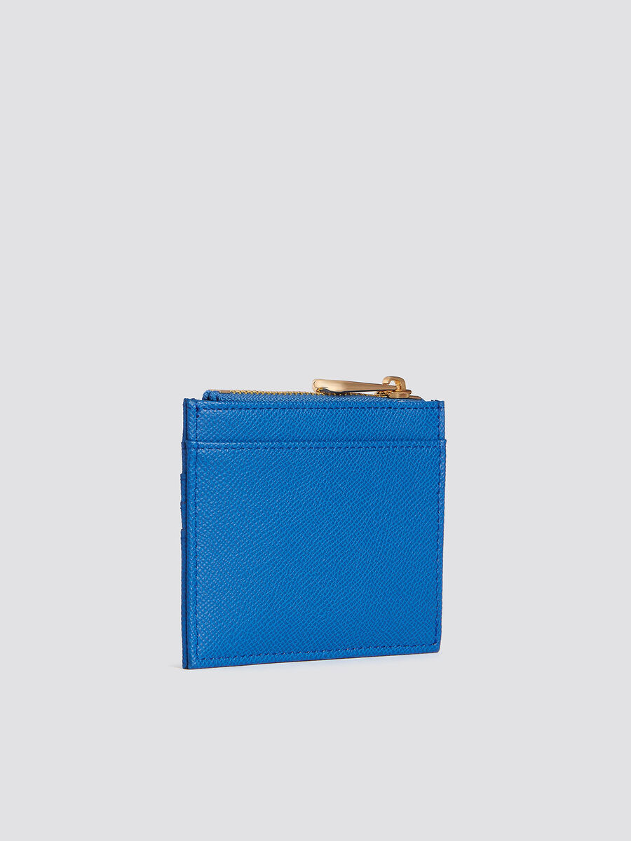 Medium T-Easy card case in faux leather with logo