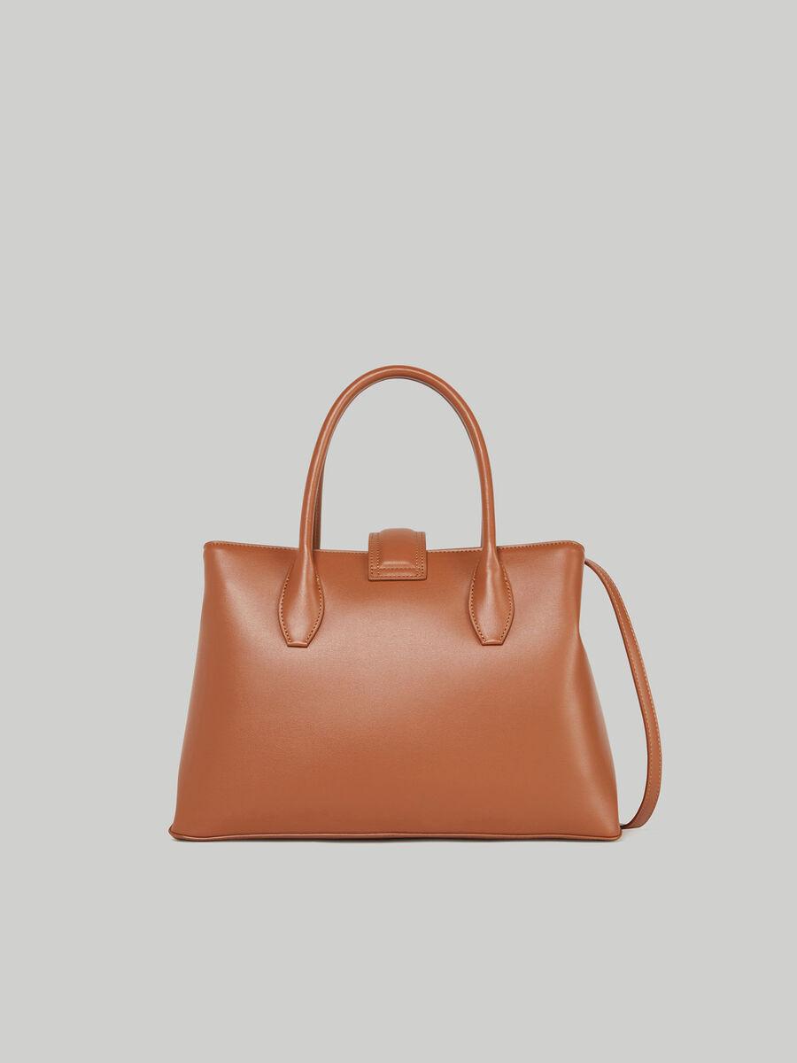 Medium Tulip tote bag in faux leather