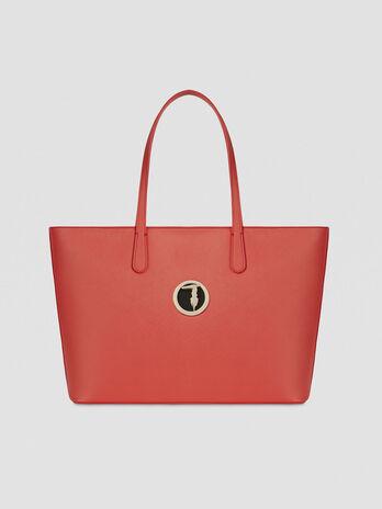Large saffiano Sophie shopper with logo