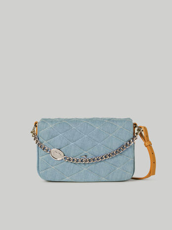 Medium Daisy crossbody bag in quilted denim