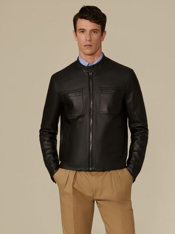 Biker Jacket regular fit in pelle