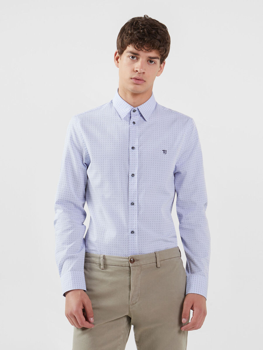 Cotton fil coupe shirt with Miami collar