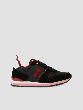 Nylon and suede Berberis running shoes