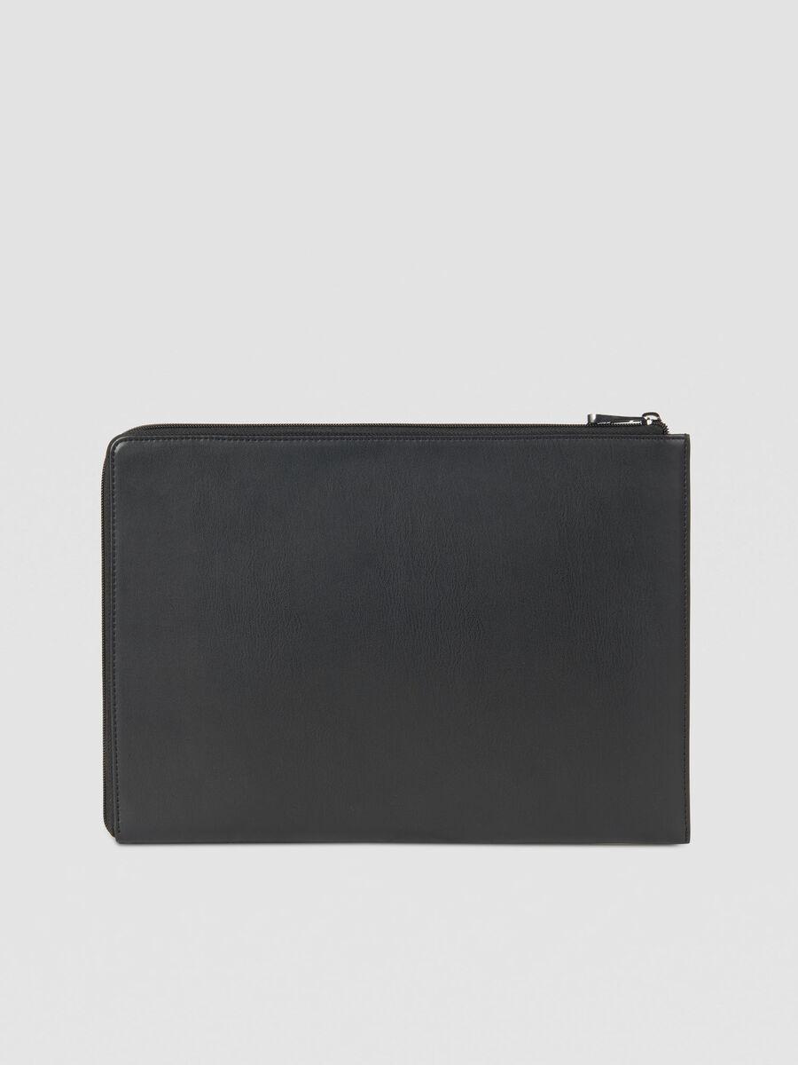 Case 13 laptop case in solid colour faux leather