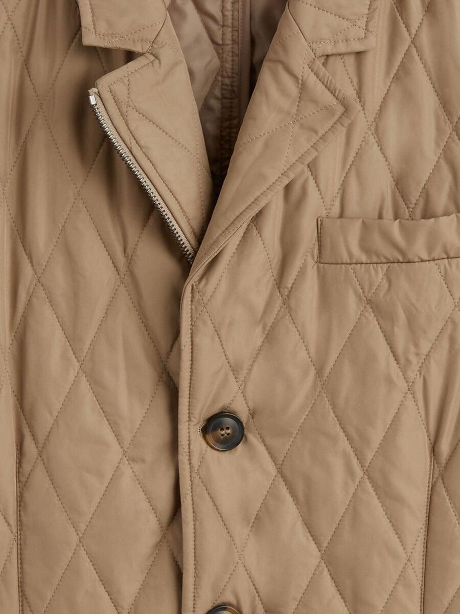 Slim fit quilted nylon jacket