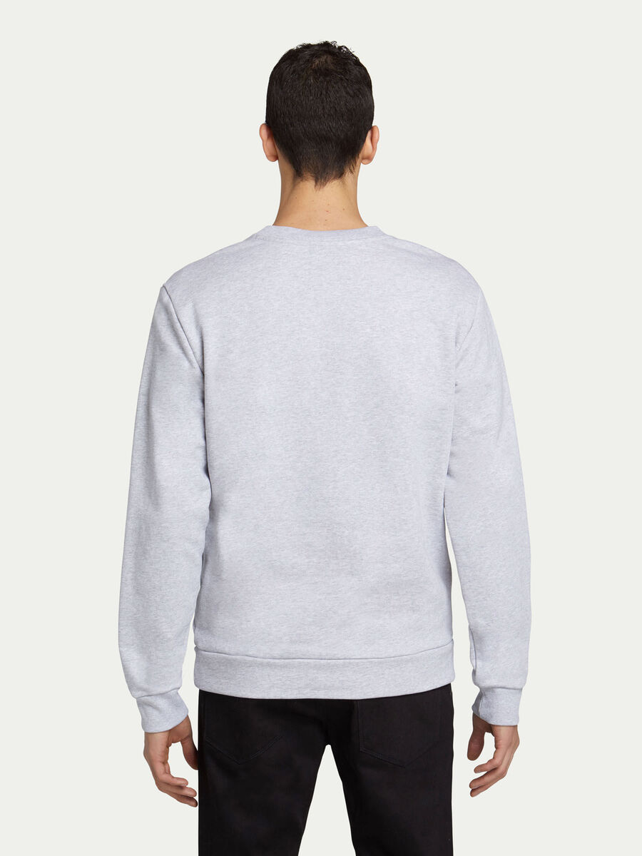 Regular fit cotton crew neck sweatshirt with levriero