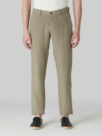 Pantalone aviator fit in puro lino