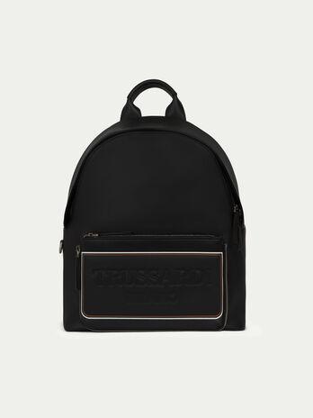 Rucksack Medium aus Leder mitTasche