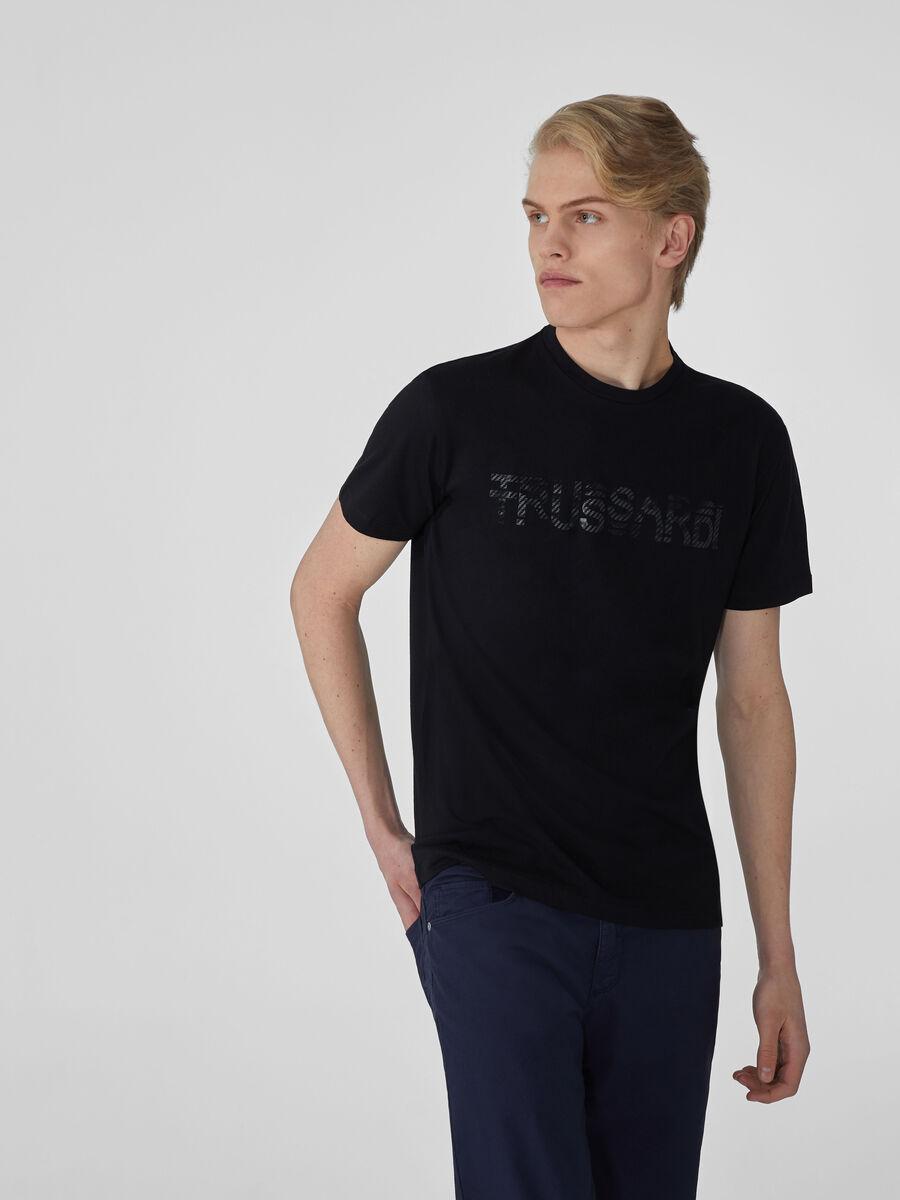 T-Shirt im Regular-Fit aus Baumwolle mit Schriftzug