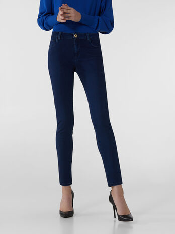 Super-skinny 206 jeans in black Satin Power denim