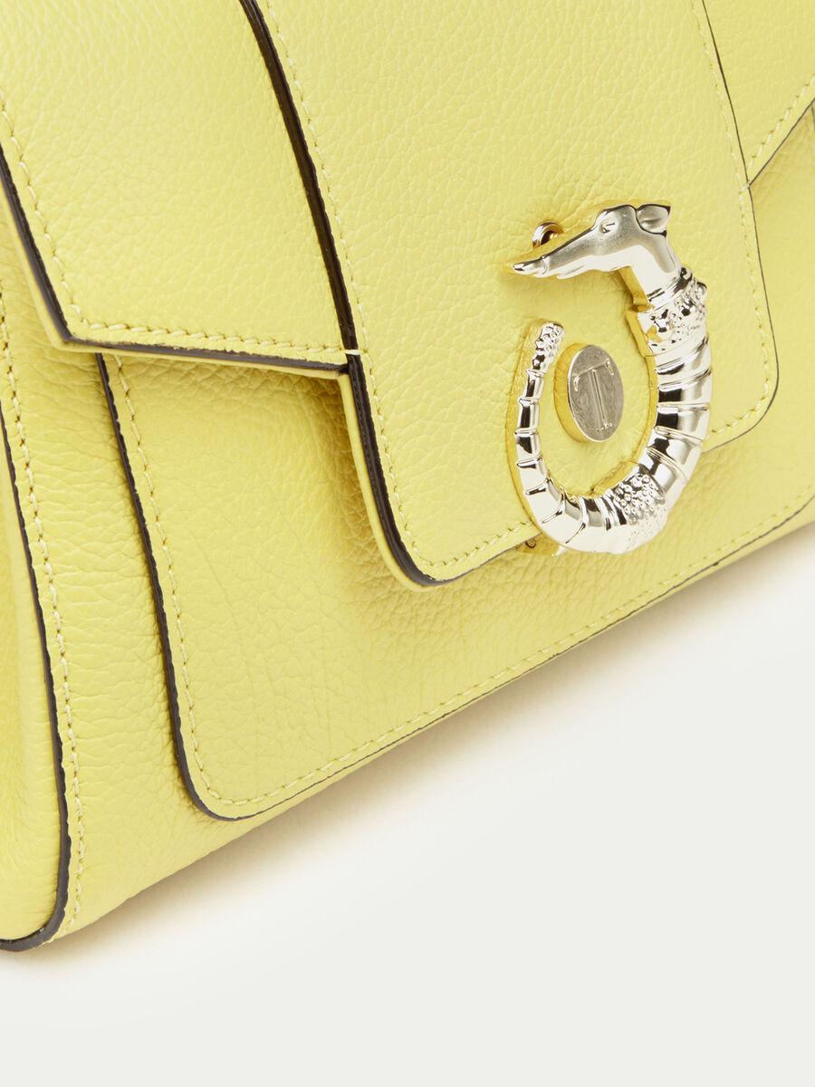 Minibolso Icon bag Lovy de piel color liso con levriero