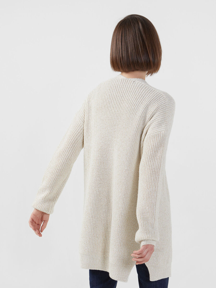 Oversized cardigan in a lurex wool blend