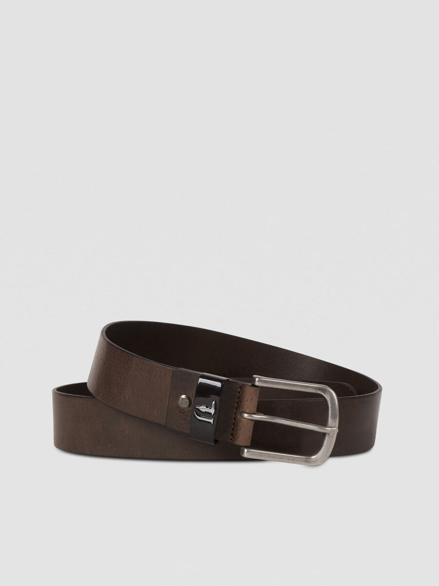 Leather T-Cube belt