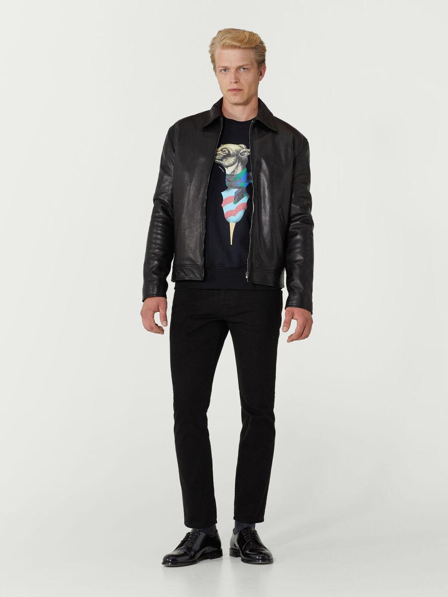 Sweatshirt im Regular Fit mit Levriero Print