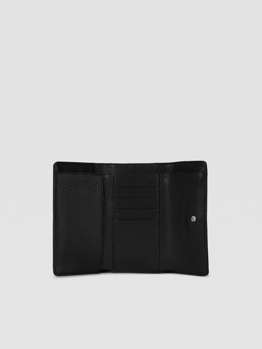 Large Harper bifold purse in hammered faux leather