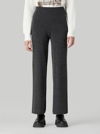 Pantalon de punto de lana y cachemira