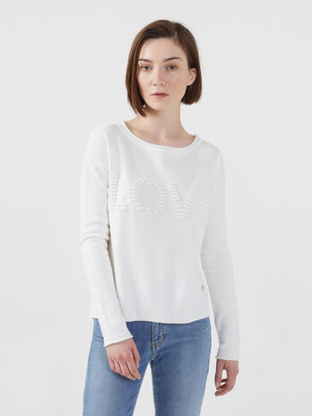 Pullover in viscosa stretch con taglio cropped
