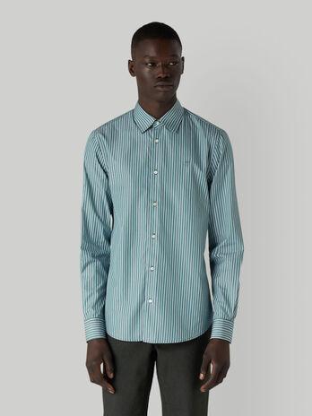 Camisa de corte regular a rayas