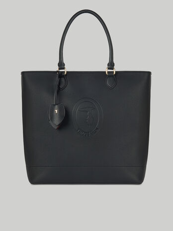 Shopping bag Iris large in similpelle stampa cervo