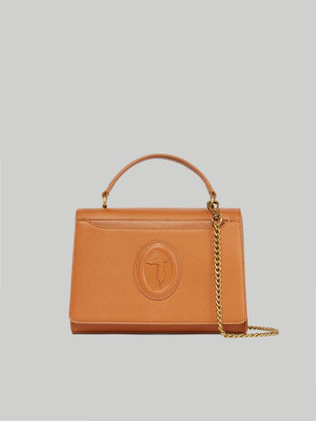 Cross-body Dahlia medium in similpelle saffiano