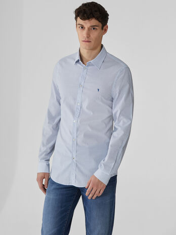 Camicia slim fit in popeline stampato