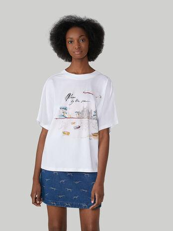 T-Shirt im Boy Fit aus Jersey mit Print