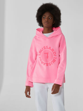 Cotton sweatshirt with monogram print