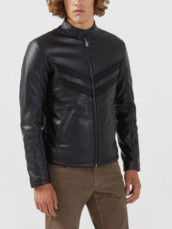 Biker jacket regular fit in similpelle soft