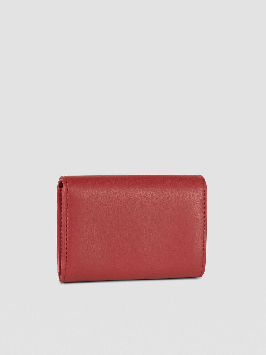 Medium Soft Stripes bifold purse in faux leather