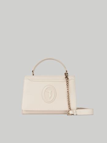 Medium Dahlia crossbody bag in faux saffiano leather