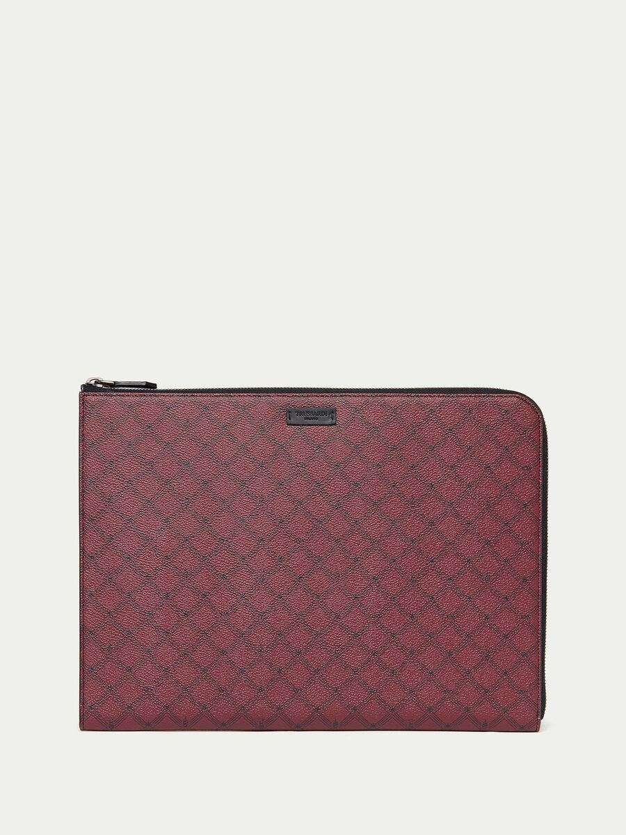 Crespo leather Monogram laptop case
