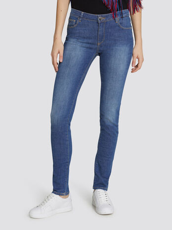 Regular Basic 260 jeans in distressed effect denim