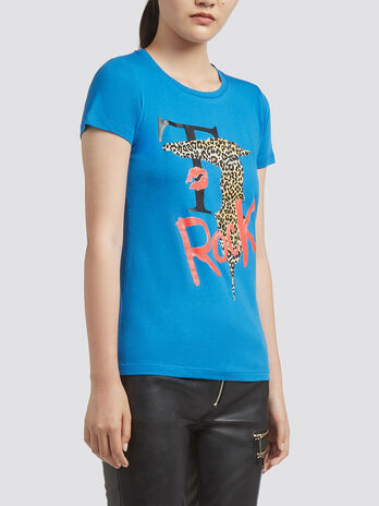 T shirt with logo print