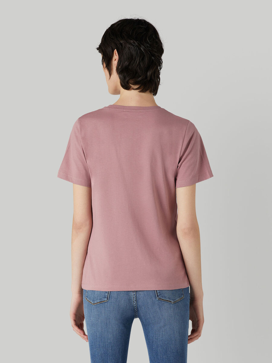 Regular-fit jersey T-shirt with lettering