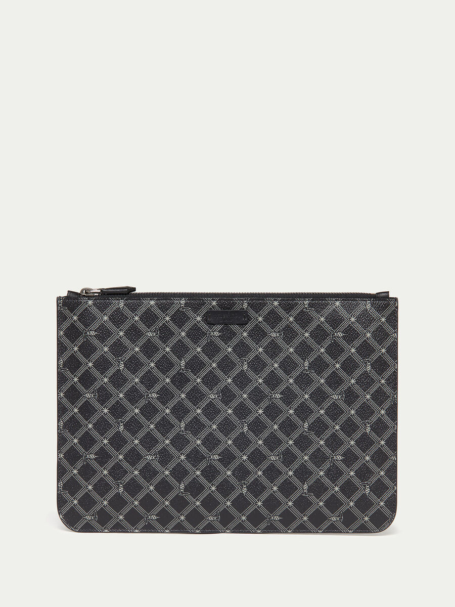Envelope Monogram in crespo pelle