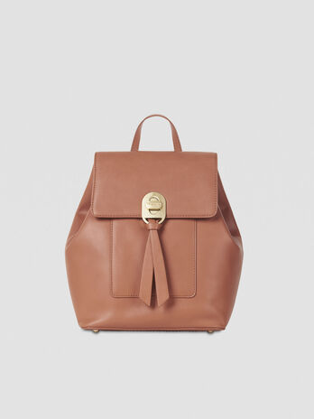 Rucksack Mya Medium aus glattem Kunstleder