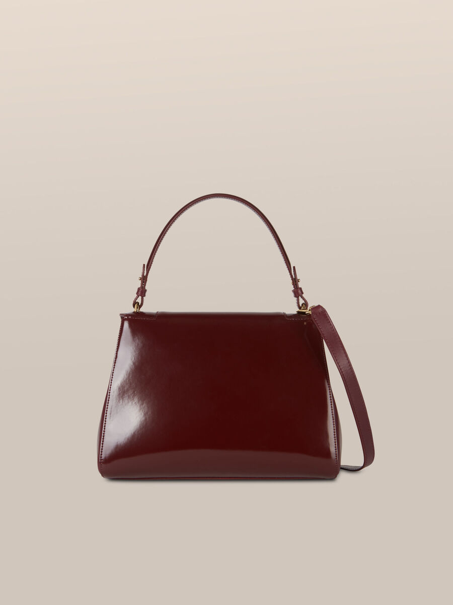 Regular size New Lovy bag in mirrored abraded leather
