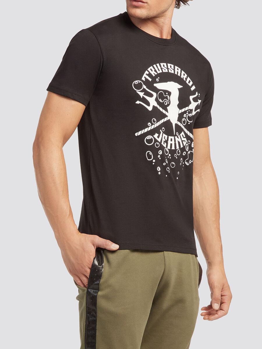 T-shirt in tinta unita stampata