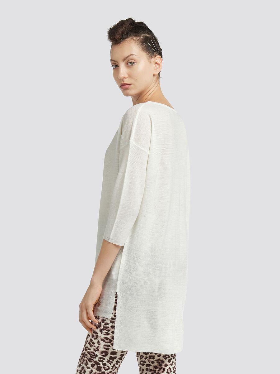 Pull asymetrique en laine