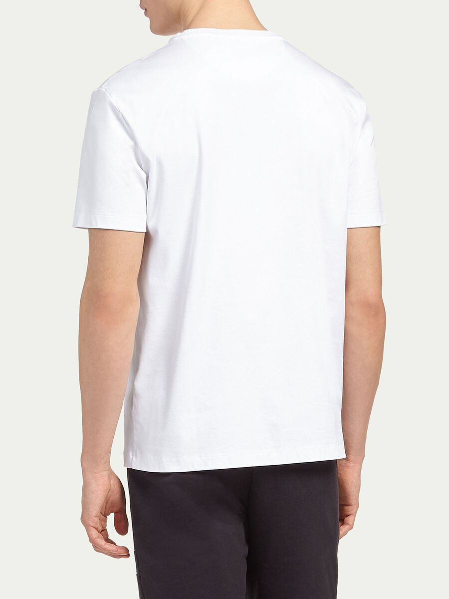 Interlock T shirt with small print