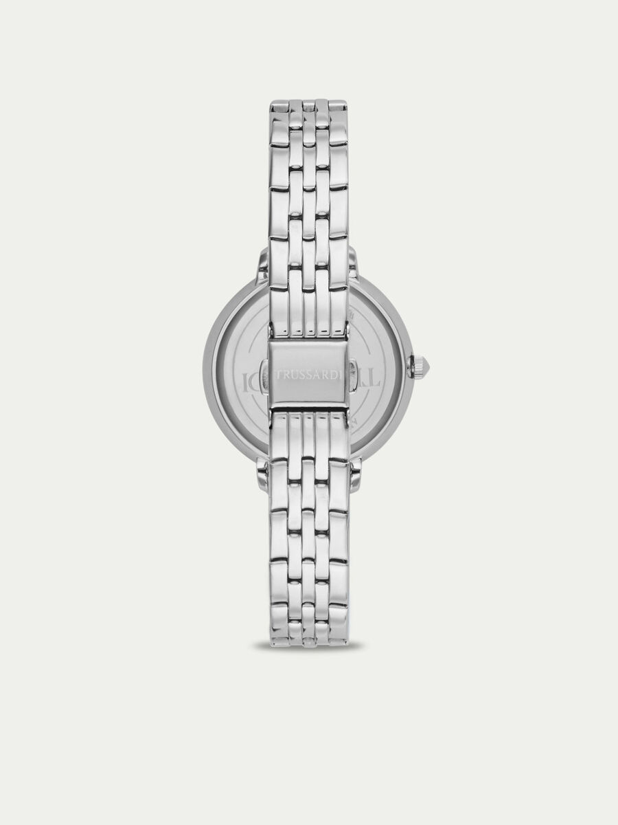 Silver T-Sun watch with golden trims