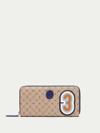 Portafoglio zip Monogram crespo pelle con patch