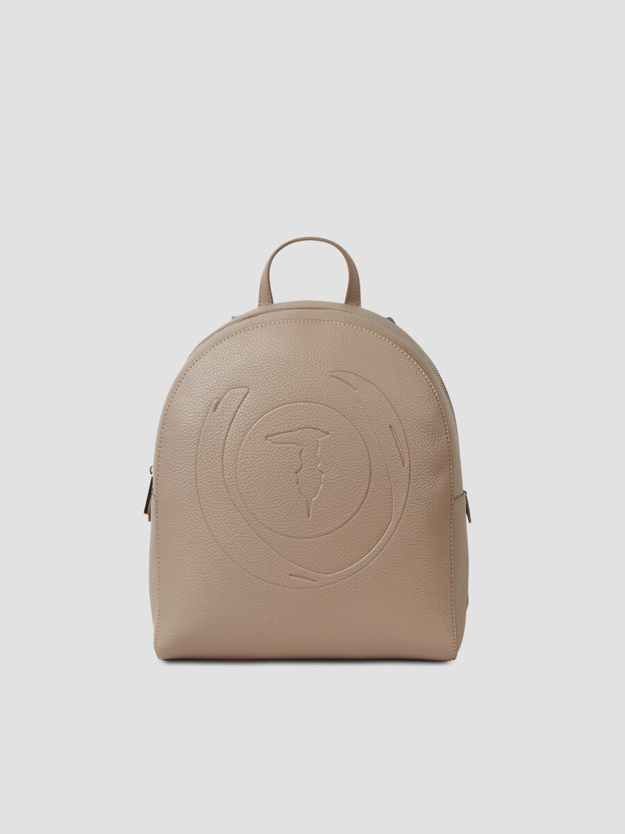 Hammered faux leather Faith backpack