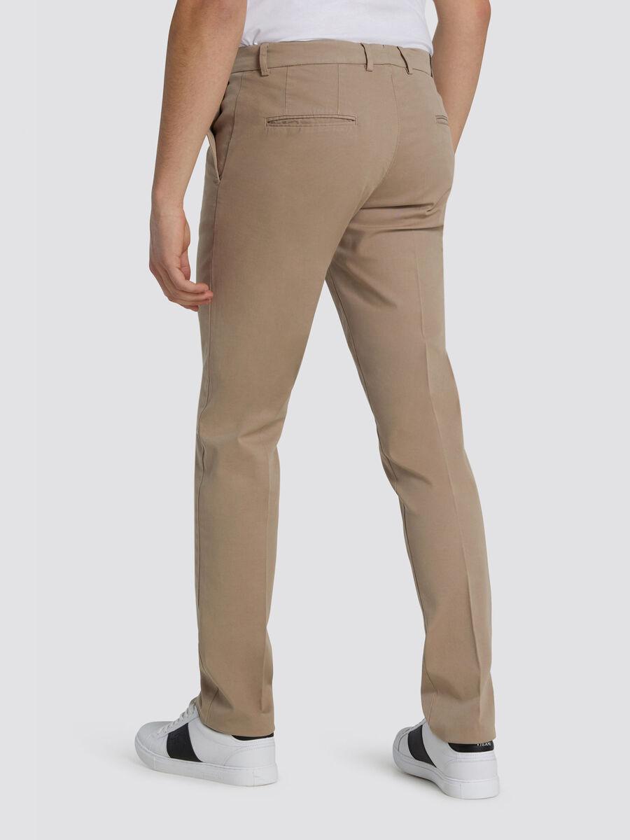 Pantaloni Aviator fit in garment dyed