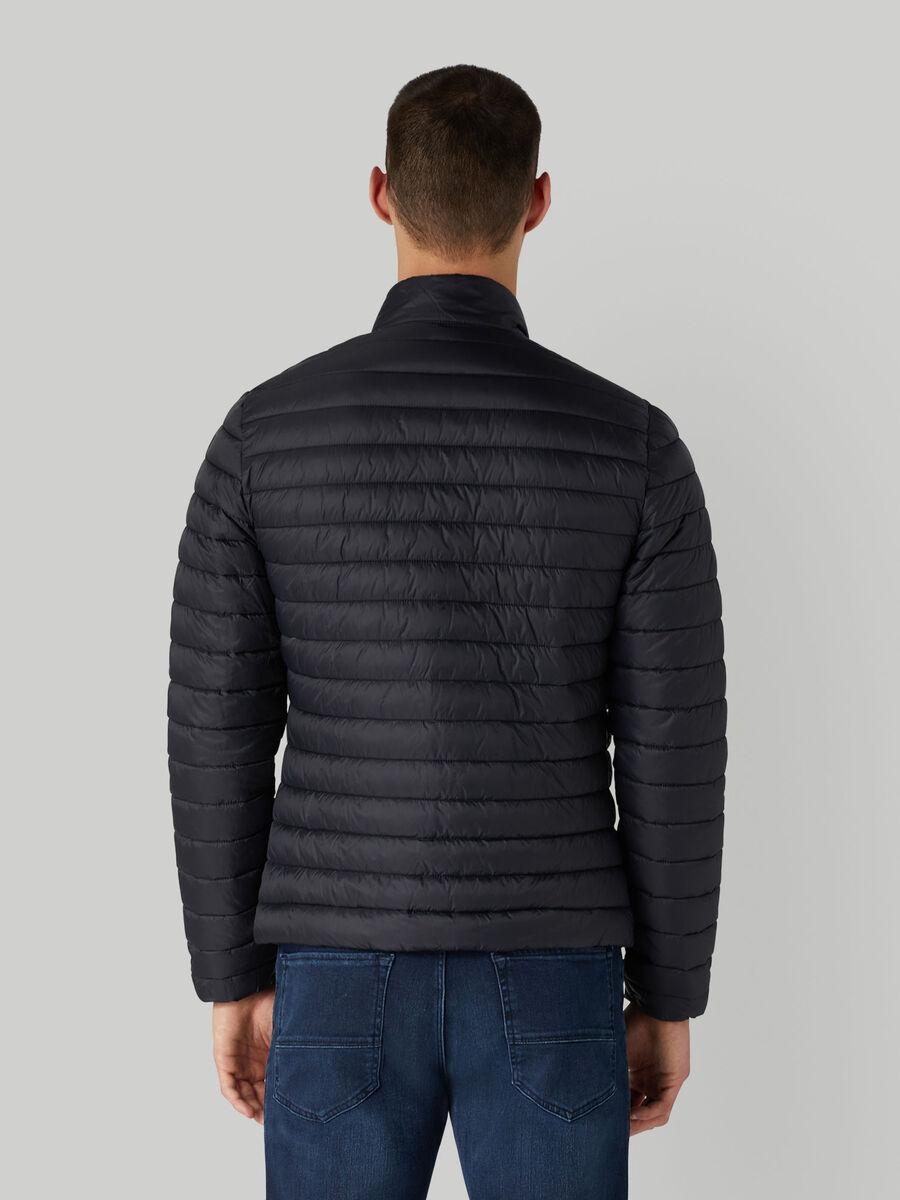 Short down jacket in light matte nylon